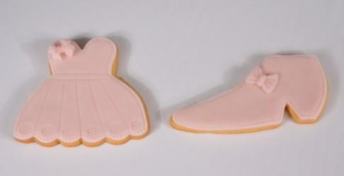 Bolacha de Mel Decorada - Vestido e Sapato